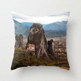 Meteora Panorama Throw Pillow