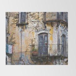 Urban Sicilian Facade Throw Blanket