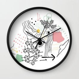 Eye of the Doodle Wall Clock