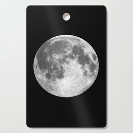 Full Moon print black-white photograph new lunar eclipse poster bedroom home wall decor Cutting Board