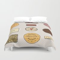 british Duvet Covers featuring British Biscuits by LuvMoo