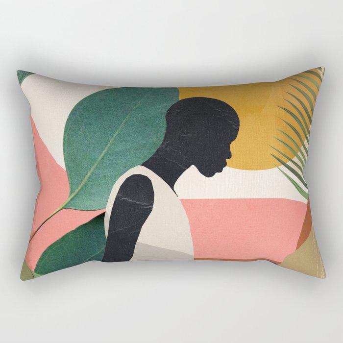 Tropical Girl Rectangular Pillow