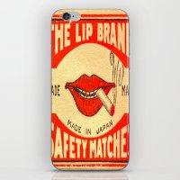 lip iPhone & iPod Skins featuring Lip Service by Wanker & Wanker