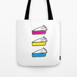 3 Pies - CMYK/White Tote Bag