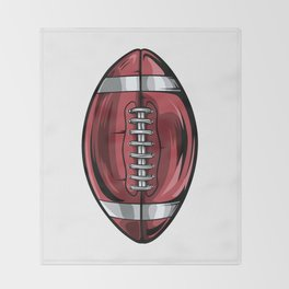 Gridiron Football Icon Throw Blanket