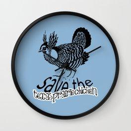 Save the Texas Prairie Chicken!  Wall Clock
