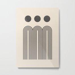 Minimal Geometric 69 Metal Print