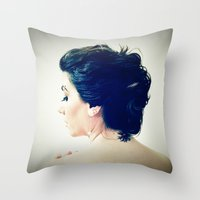 inspiration Throw Pillows featuring Inspiration by Arevik Martirosyan