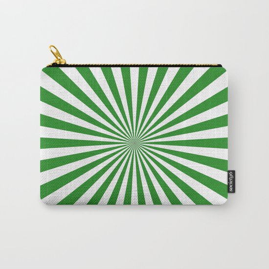 Starburst (Forest Green/White) Carry-All Pouch