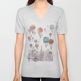 Voyages Over San Francisco ~ Refresh Unisex V-Neck