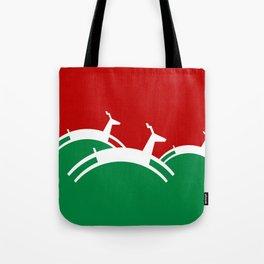 Jumping Christmas Deer Tote Bag