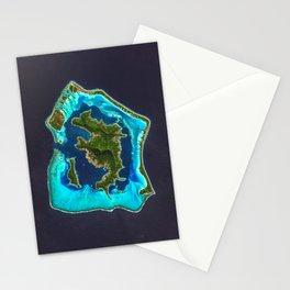 Bora Bora Satellite Image Stationery Cards