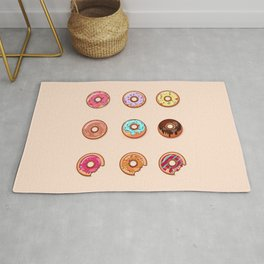 Sweet Donuts pattern Rug