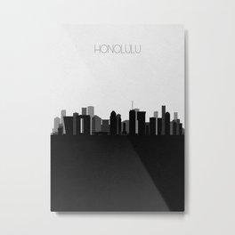 City Skylines: Honolulu Metal Print