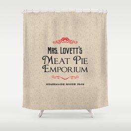 Mrs. Lovett's Meat Pie Emporium (Sweeney Todd) Shower Curtain