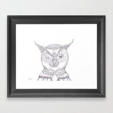 Mr. Wink The Owl Framed Art Print