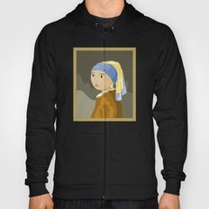 Girl with pearl by Vermeer  Hoody