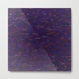 Purple bricks wall Metal Print