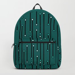Dotted Lines in Teals Backpack
