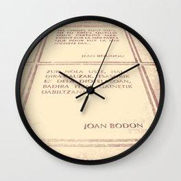 Joan Bodon [1] Wall Clock