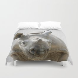 Baby Rhino - Colorful Duvet Cover
