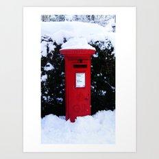 Christmas Card Time Art Print
