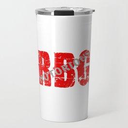 NOTORIOUS RBG - GRUNGE FONT Travel Mug