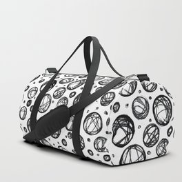 Sketchy Balls Pattern Duffle Bag
