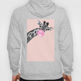 Bubble Gum Sneaky Giraffe Pink Hoody