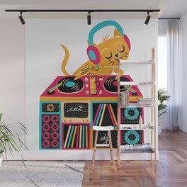 Cat DJ Wall Mural