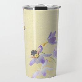 Crocuses and bumblebees Travel Mug