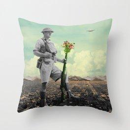 Conquered Throw Pillow