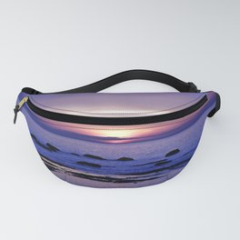 Blue and Purple Sunset on the Sea Fanny Pack
