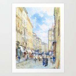 Franz Alt - Weihburggasse - Digital Remastered Edition Art Print