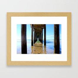 Scripps Pier - Blues Framed Art Print