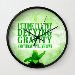 defying gravity Wall Clock