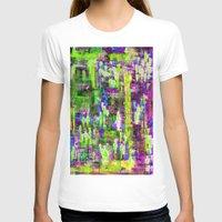 boyfriend T-shirts featuring BOYFRIEND SWEATS(violet & lime) by Glint & Lime Art