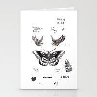 la Stationery Cards featuring Tattoo à la Harry by Kate & Co.