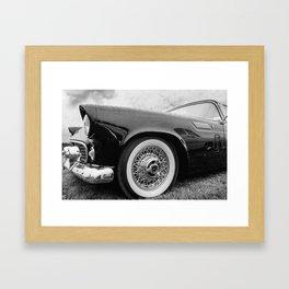 Vintage Black Car Framed Art Print