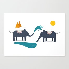 ELEFUNT Canvas Print