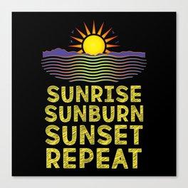 Beach Nautical - Sunrise Sunburn Sunset Canvas Print