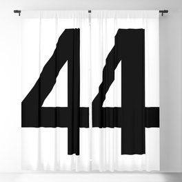 Number 4 (Black & White) Blackout Curtain