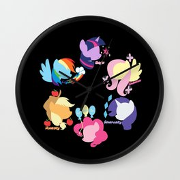 Mane Six Wall Clock