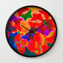 float like a butterfly Wall Clock
