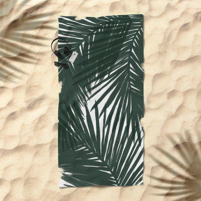 Palms Green Beach Towel