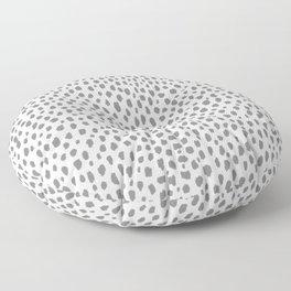 Gray Dalmatian Spots (gray/white) Floor Pillow