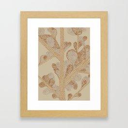earthy swirls Framed Art Print
