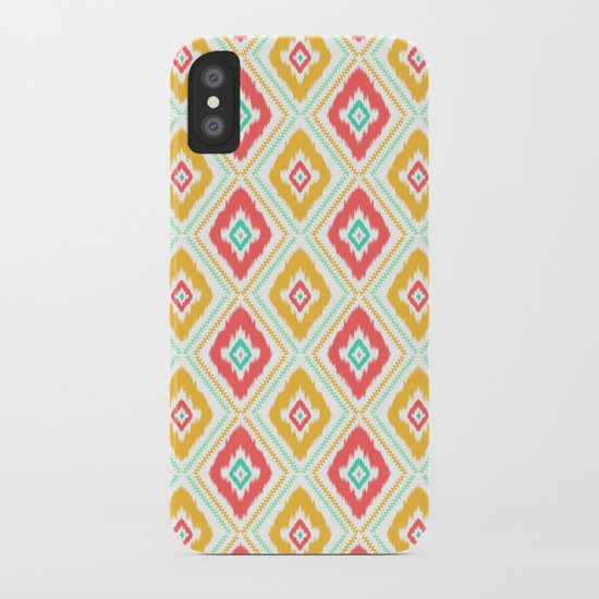Zig Zag Ikat (white) iPhone Case