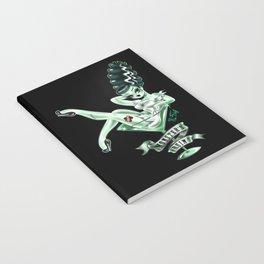 Bride of Frankenstein in a Martini Glass Notebook