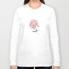 Watercolor flower phlox Long Sleeve T-shirt